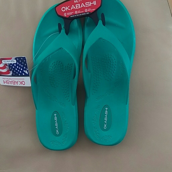 Okabashi Slip Resistant Sandals Mint